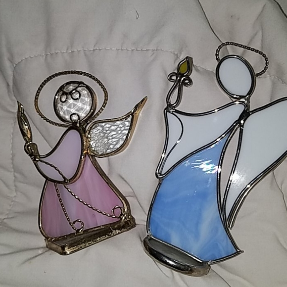 3 for 10 /PAIR OF GLASS ANGELS DIFFERENT STYLE